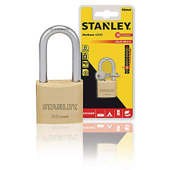 Stanley Padlock Solid Brass 30 mm