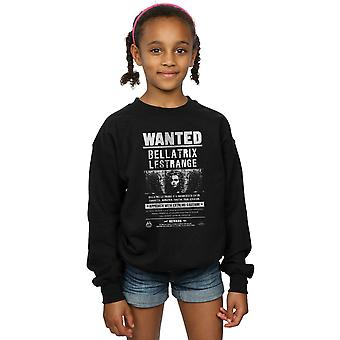Harry Potter Girls Bellatrix Lestrange Wanted Sweatshirt