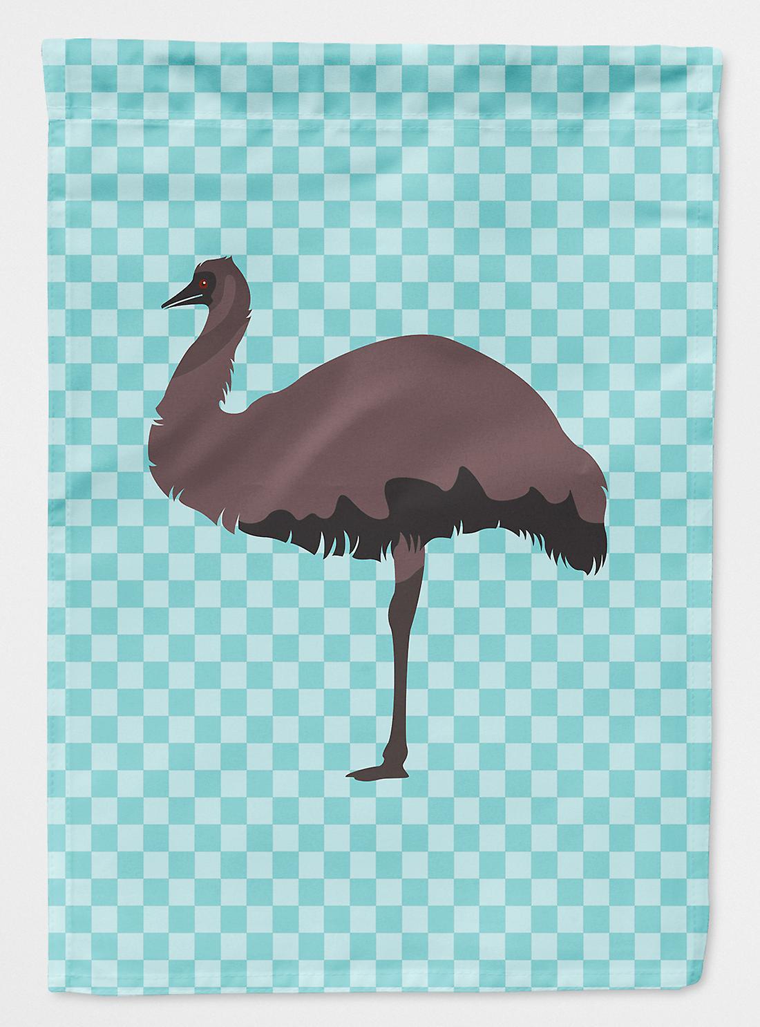 Carolines trésors BB8096CHF Emu bleu cocher drapeau toile maison Taille