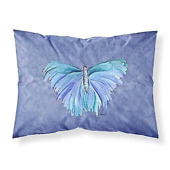 Butterfly on Slate Blue Moisture wicking Fabric standard pillowcase