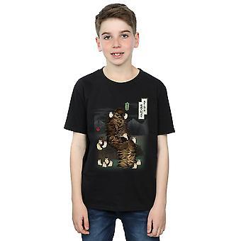 Star Wars Boys The Last Jedi Japanese Chewbacca Porgs T-Shirt