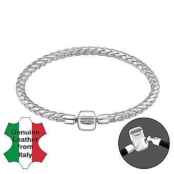 Almindelig - 925 sterlingsølv + ledning perle armbånd - W31500X
