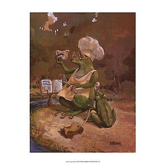 Frog Cookies Poster Print by Dot Bunn (13 x 19)