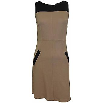 DP Petite Caramel Contrast Shift Dress DR440-10