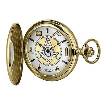 Woodford Masonic Albert Pocket Watch - Gold