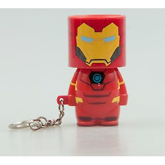 Official Marvel Iron Man Look-Alite Light Keyring / Keychain