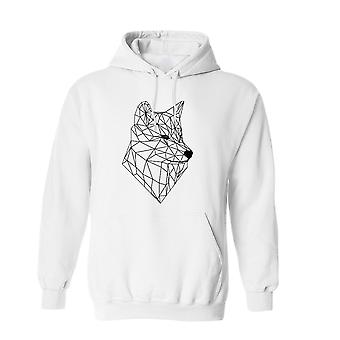 Outline Wolf Vector Graphic Design Men's Hoodie