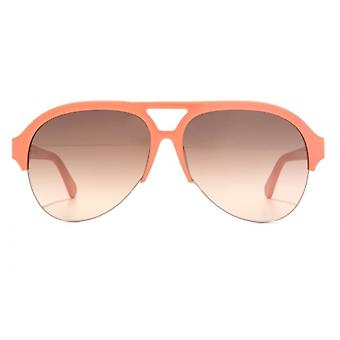 Stella McCartney Falabella pilote lunettes de soleil orange