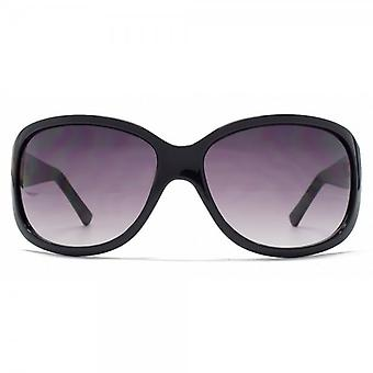 French Connection Classic Wrap Sunglasses In Black