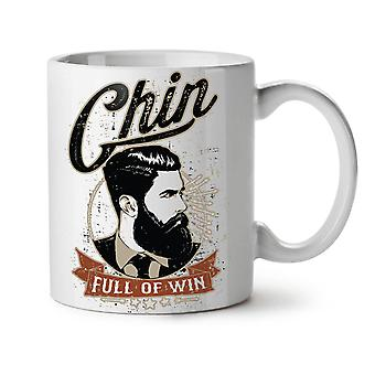 Chin Full Of Win NEW White Tea Coffee Ceramic Mug 11 oz | Wellcoda