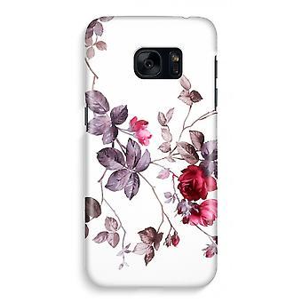 Samsung S7 Full Print Case - ganske blomster