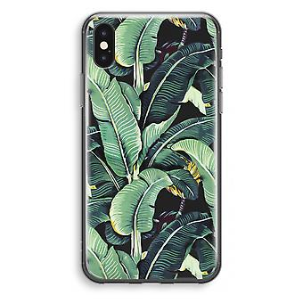 iPhone X Transparant Case - Banana leaves