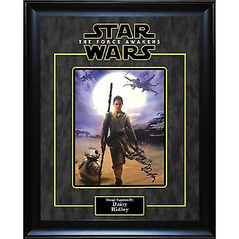 Star Wars - Signed by Daisy Ridley - Framed Artist Series