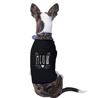مياو القطن قميصا الحيوانات الأليفة الكلاب الصغيرة السوداء ملابس