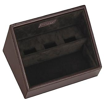 Gents Exec Brown Valet Tray for Mobile Phones