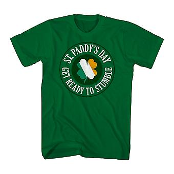 Humor gör dig redo att snubbla mäns Kelly Green rolig T-shirt