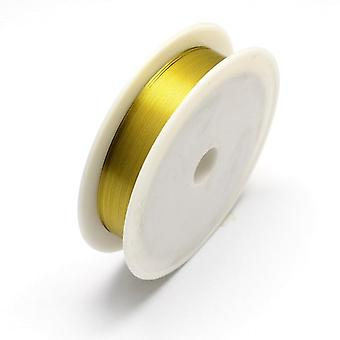 1 x Golden Plated Iron 0.3mm x 20m Round Craft Wire Spool HA16555