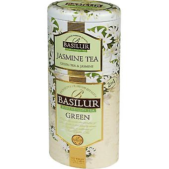 Basilur Tea - Jasmine Tea & Green Tea - Dual Layer Tea Caddy