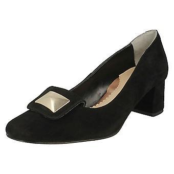 Ladies Van Dal Formal Court Shoes Opie - Black Suede Leather - UK Size 6D - EU Size 39 - US Size 8