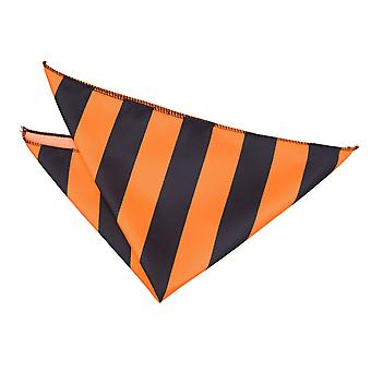Orange & nero a righe Pocket Square