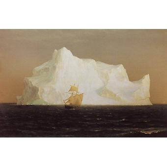 The Iceberg, Frederic e. Church, 50.8 x 76.2 cm