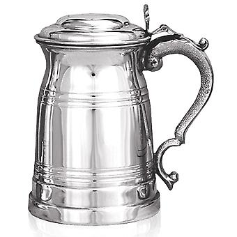 Old London Pewter Tankard with Lid - 1 Pint