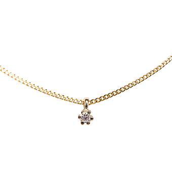 14 karaat gouden hanger met diamant