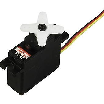 Hitec Midi servo HS-81 Analogue servo Gear box material: Plastic Connector system: JR