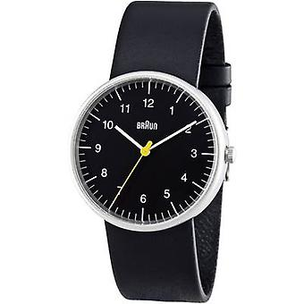 Braun Classic Watch with Leather Strap (BN0021BKBKG)