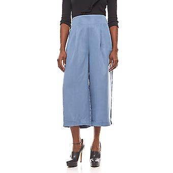 Rick cardona airy ladies 7/8 culotte with pleats blue