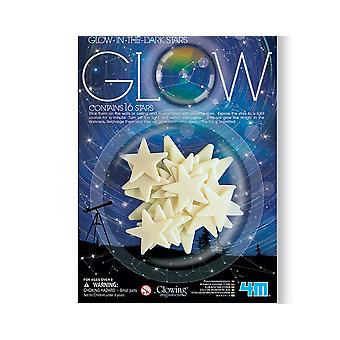 SALE - 16 Glow In The Dark Stars   Outer Space Crafts