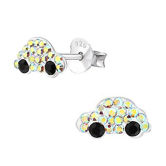 Auto - 925 Sterling Silber Crystal Ohrstecker - W38294x