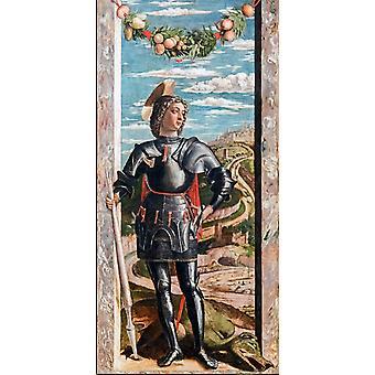 Saint-Georges, Andrea Mantegna, 66x32cm