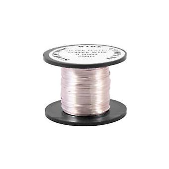 1 x Silver pläterad koppar 0,4 mm x 20 m runda Craft Wire spole W2040