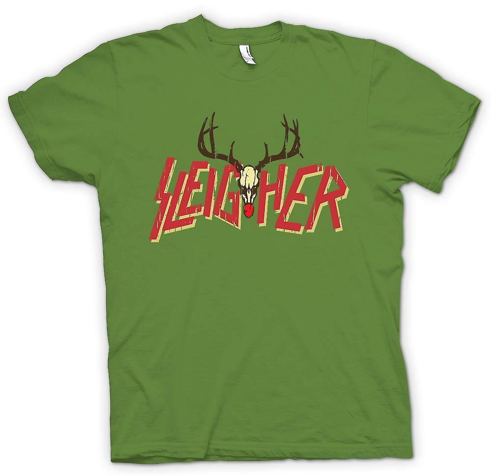 Herr T-shirt - Sleigher Rock Metal inspirerade jul