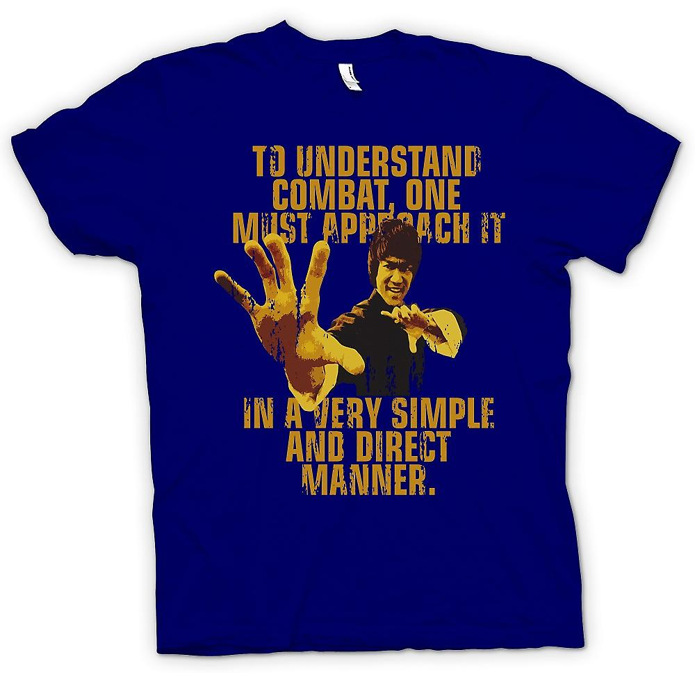 On s'approche de mens T-shirt - Bruce Lee Quote - comprendre le Combat