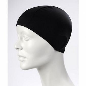 BECO 100% Polyester Fabric Adults Swim Cap-Black