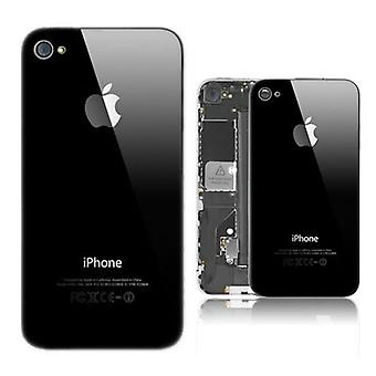 IPhone 4 & 4S Hard Plastic Cover Back Case with Apple Logo - Black