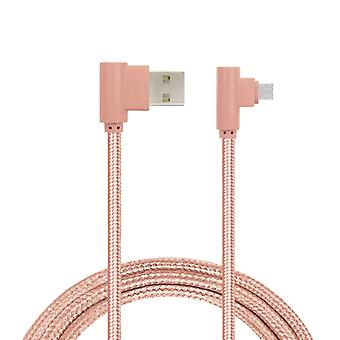 Charging Cable, Angled, Micro-USB-Pink