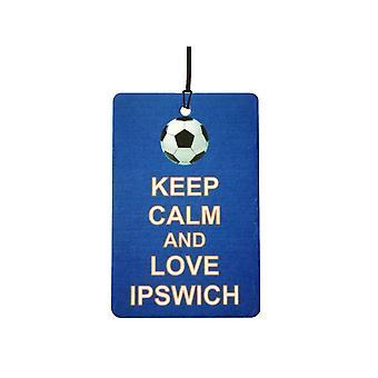 Mantener la calma y amor ambientador de coche de Ipswich