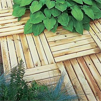 Forest Garden Ridged Deck Tile 50 x 50cm - 4 Packs