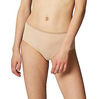 Maison Lejaby 5569M-389 Women's Nuage Pur Power Skin Beige Satin Knickers Panty Full Brief
