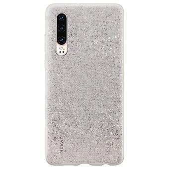 PU Case Grau für Huawei P30 51992981 Original Tasche Etui Schutz Schale Abdeckung
