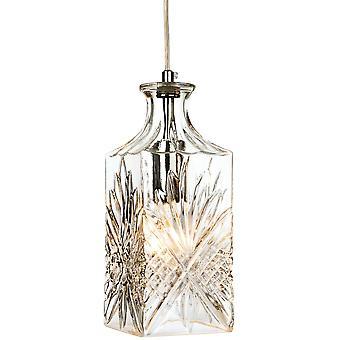 Firstlight-1 ljus tak hänge krom, klart dekorativt glas-3447CH