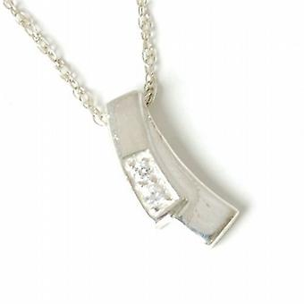 Toc Sterling Silver Modern Design Pendant on 18 Inch Chain