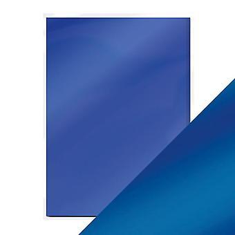 Craft Perfect A4 Satin Effect Mirror Card Cobalt Velour Tonic Studios
