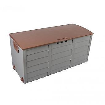 Rebecca Möbelbox äußere Kofferraum Garten Brown 290 Lt Kunststoff 2 Räder