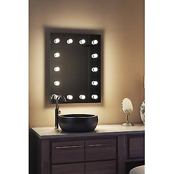 Diamond X Wallmount Hollywood Mirror with Dimmable LED k412LEDbath
