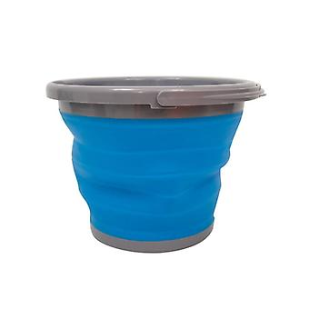 Yellowstone Foldable Bucket 10 Litres Blue and Grey