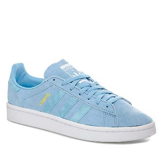 Junior Boys Adidas Originals campus formateurs en bleu-dentelle de fixation-amorti